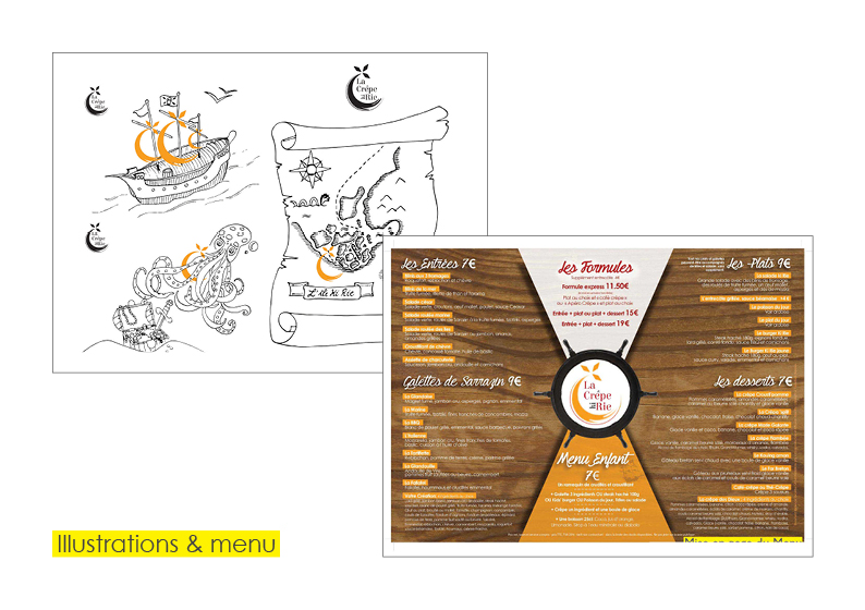 menu and colouring
